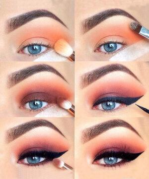 Цветовые контрасты в макияже глаз 2
