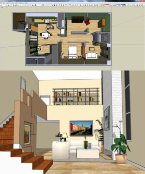 Дизайн интерьера в SketchUp - видеокурс